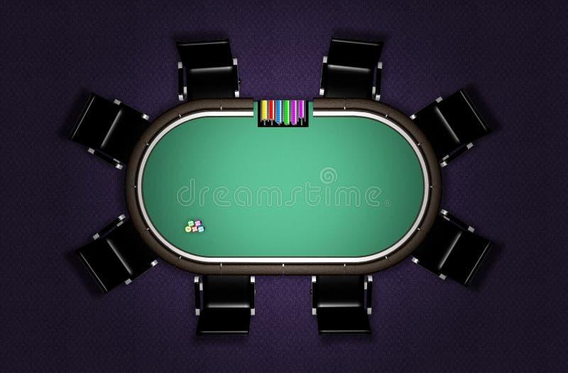 Ρεαλιστικός πίνακας πόκερ απεικόνιση αποθεμάτων
