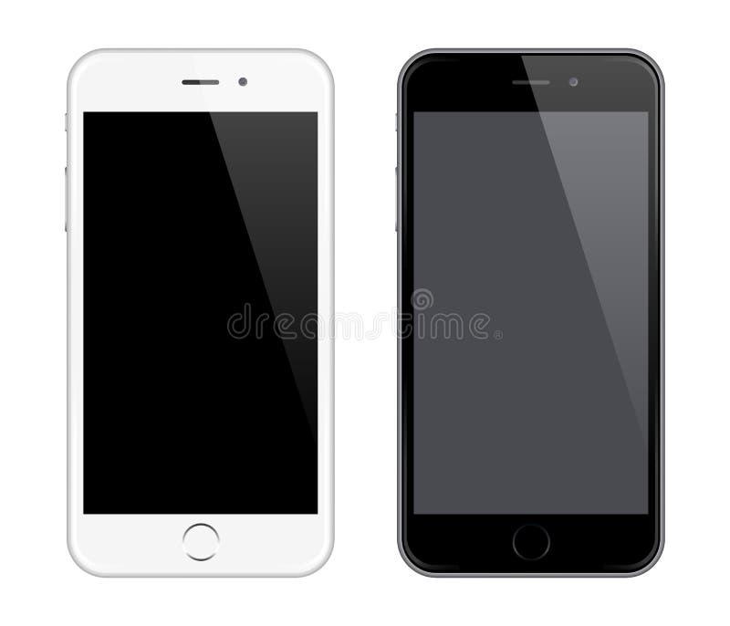 Ρεαλιστικό διανυσματικό κινητό τηλεφωνικό πρότυπο όπως το ύφος σχεδίου Iphone διανυσματική απεικόνιση