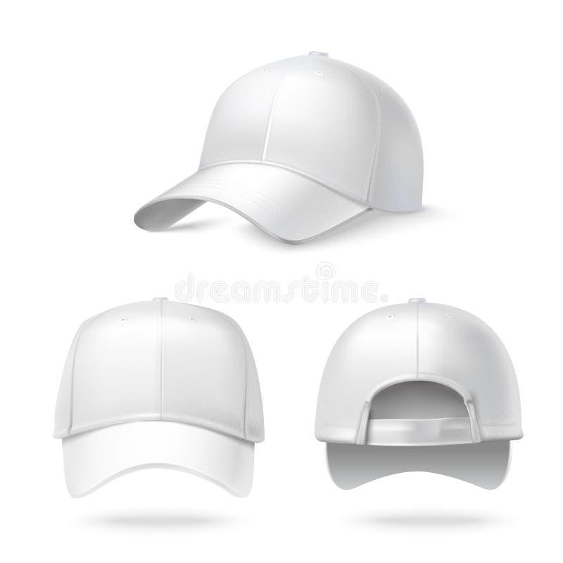 Ρεαλιστικό καπέλο του μπέιζμπολ απεικόνιση αποθεμάτων