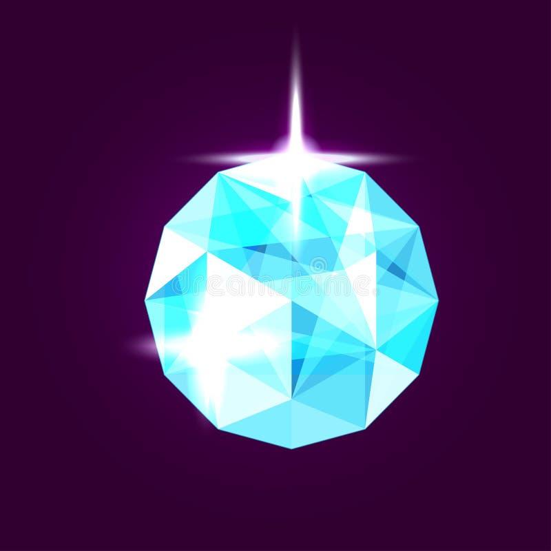 Ρεαλιστικό κόσμημα topaz gem επίσης corel σύρετε το διάνυσμα απεικόνισης διανυσματική απεικόνιση