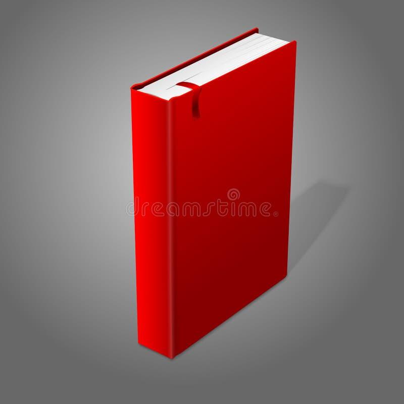 Ρεαλιστικό μόνιμο κόκκινο κενό βιβλίο hardcover με απεικόνιση αποθεμάτων