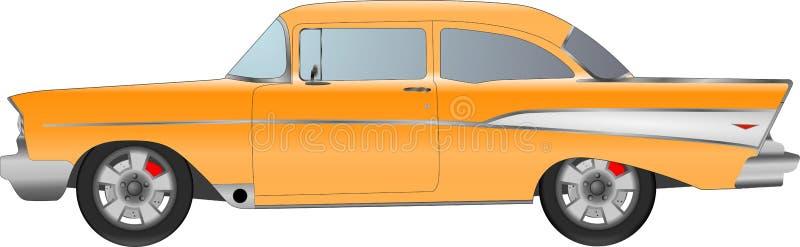 Ρεαλιστικό πρότυπο αυτοκίνητο που απομονώνεται στο υπόβαθρο Λεπτομερές σχέδιο επίσης corel σύρετε το διάνυσμα απεικόνισης ελεύθερη απεικόνιση δικαιώματος