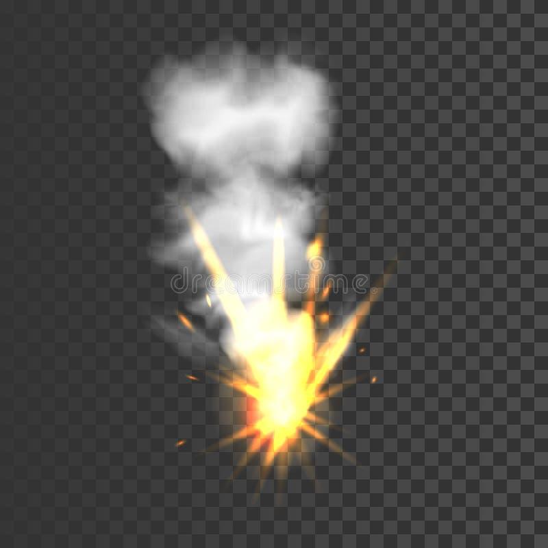 Ρεαλιστικό σημάδι έκρηξης διανυσματική απεικόνιση
