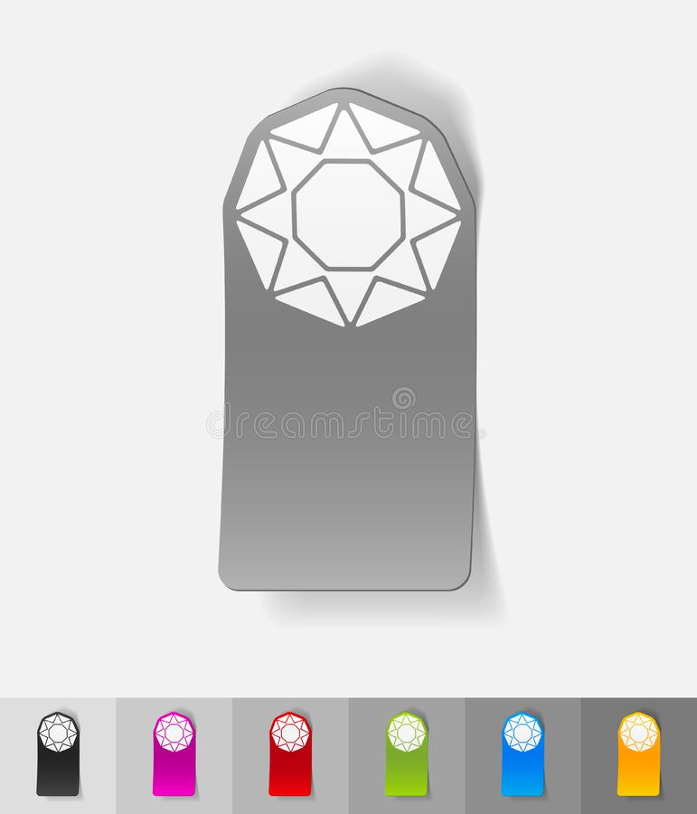 Ρεαλιστικό στοιχείο σχεδίου gem απεικόνιση αποθεμάτων