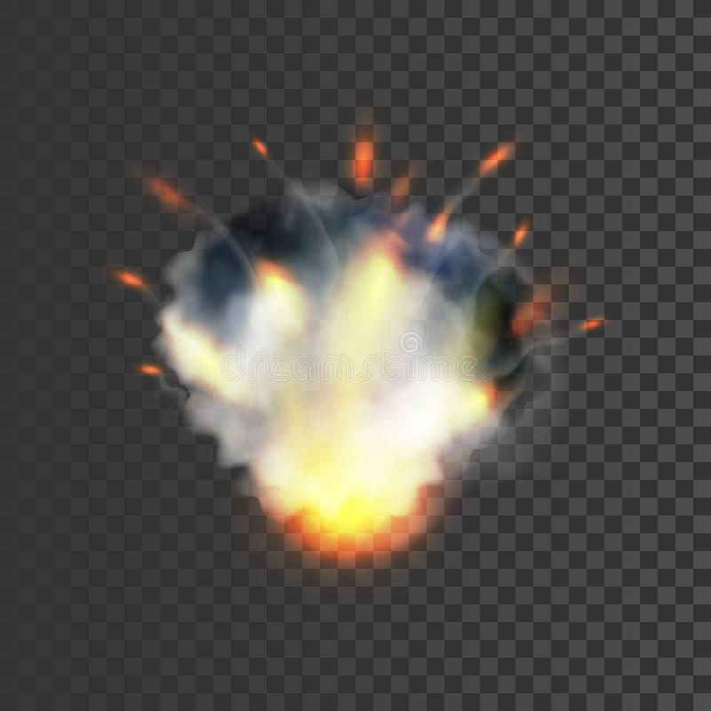 Ρεαλιστικό σύμβολο έκρηξης διανυσματική απεικόνιση