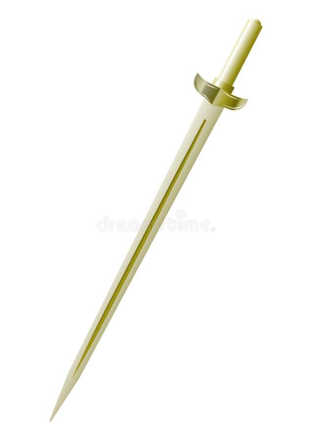 Ρεαλιστικό χρυσό ξίφος στοκ φωτογραφία