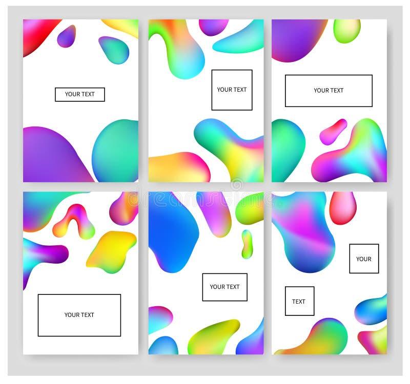 Ρευστά εμβλήματα χρωμάτων καθορισμένα διανυσματική απεικόνιση