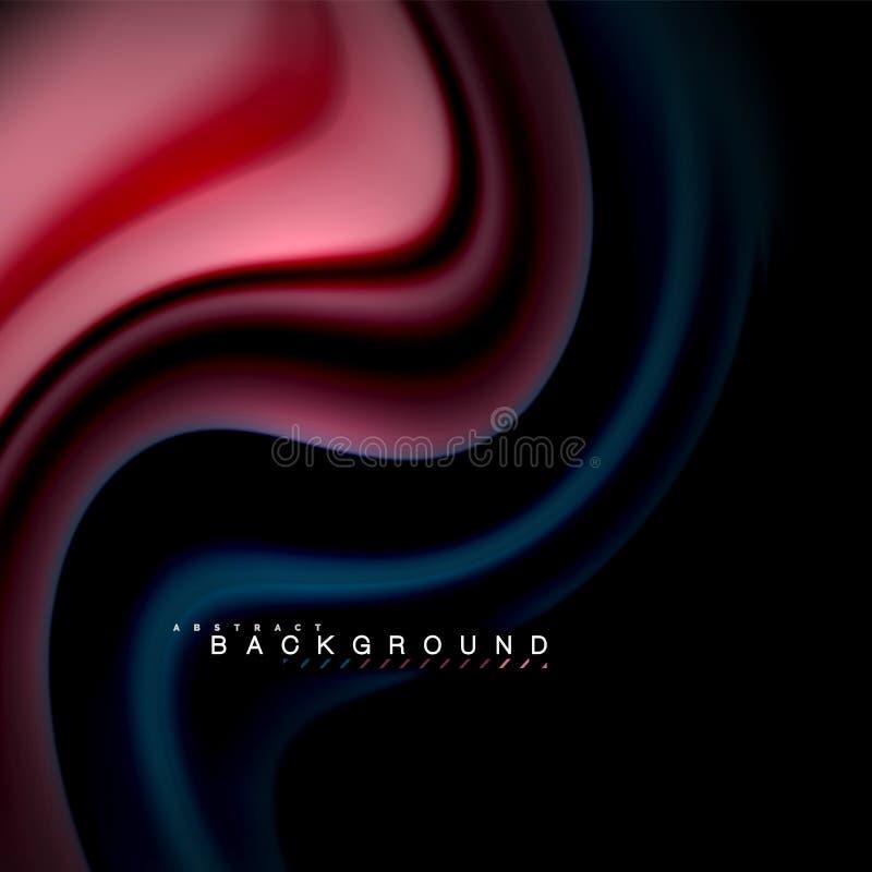 Ρευστό μίξης χρωμάτων διανυσματικό σχέδιο υποβάθρου κυμάτων αφηρημένο Ζωηρόχρωμα κύματα πλέγματος ελεύθερη απεικόνιση δικαιώματος