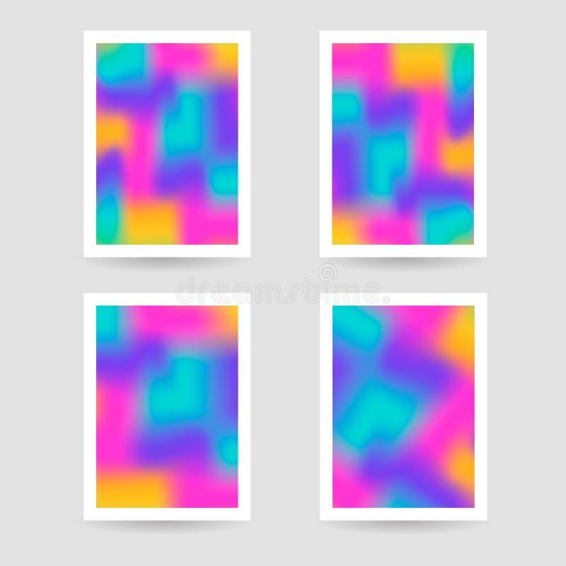 Ρευστό υπόβαθρο χρωμάτων, θολωμένο υπόβαθρο, καθορισμένες αφίσες με το wh ελεύθερη απεικόνιση δικαιώματος