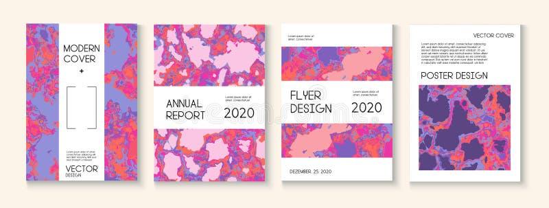 Ρευστό χρώμα, διανυσματικό σχεδιάγραμμα κάλυψης σύστασης αργίλου Καθιερώνον τη μόδα περιοδικό, πρότυπο αφισών μουσικής Σύγχρονη α απεικόνιση αποθεμάτων