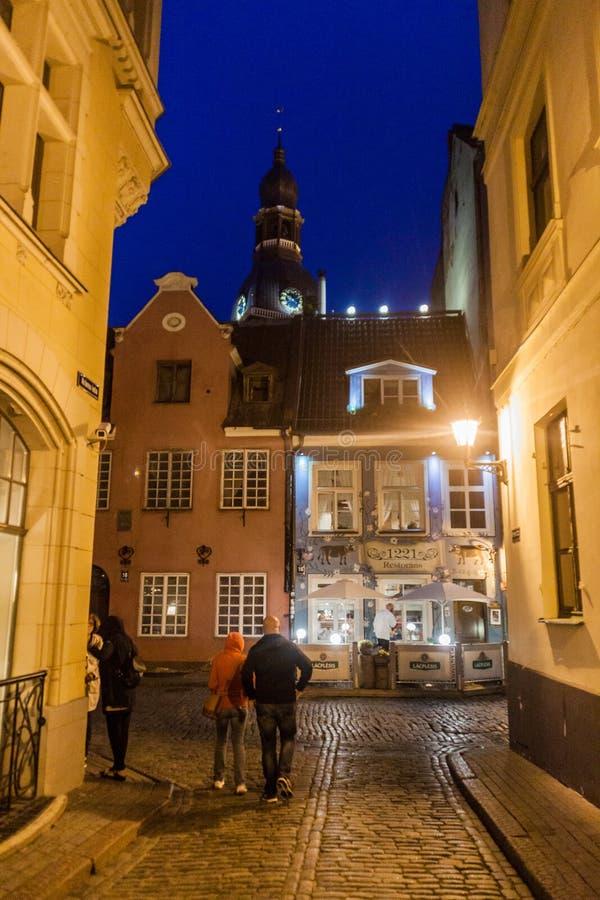 ΡΗΓΑ, ΛΕΤΟΝΙΑ - 18 ΑΥΓΟΎΣΤΟΥ 2016: Παλαιά κτήρια στο κέντρο της Ρήγας, Latv στοκ φωτογραφίες
