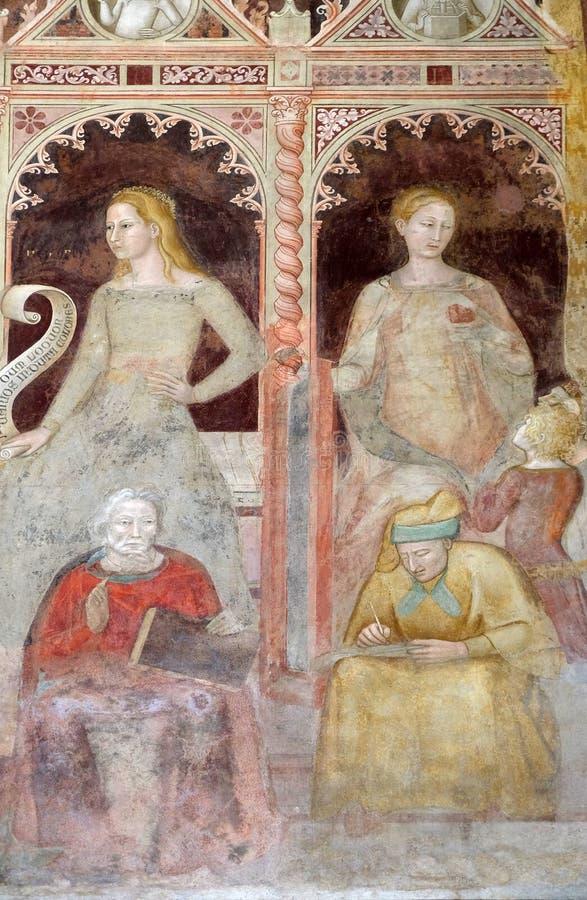 Ρητορική-Κικέρωνας, γραμματική-Priscian, εκκλησία της Σάντα Μαρία Novella στη Φλωρεντία στοκ φωτογραφία με δικαίωμα ελεύθερης χρήσης