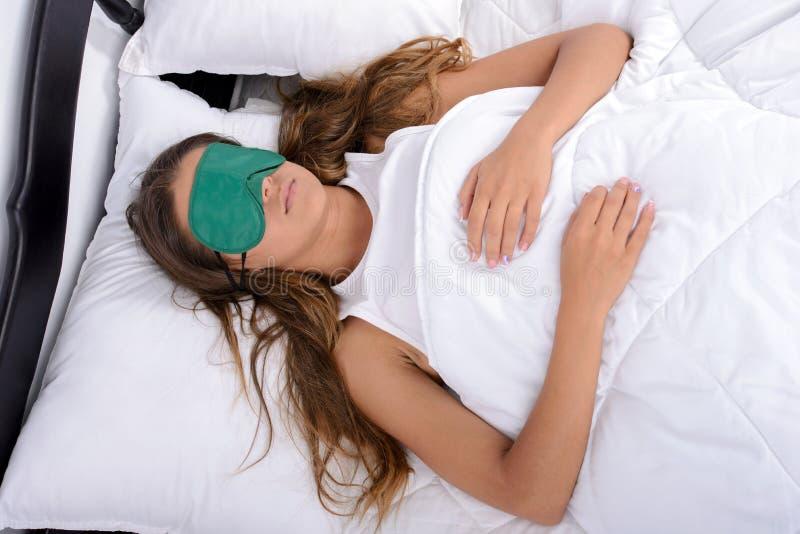 ρηχή γυναίκα ύπνου πεδίων βάθους στοκ φωτογραφία με δικαίωμα ελεύθερης χρήσης