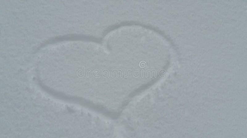 ρηχό χιόνι καρδιών πεδίων βάθους στοκ φωτογραφίες με δικαίωμα ελεύθερης χρήσης