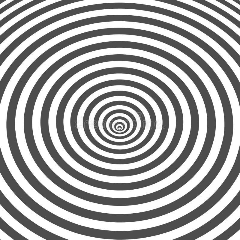 Ριγωτή γραπτή οπτική παραίσθηση διανυσματική απεικόνιση