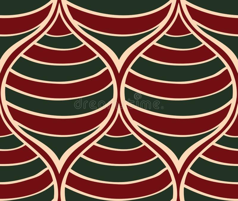 Ριγωτή διακόσμηση Χριστουγέννων διανυσματική απεικόνιση