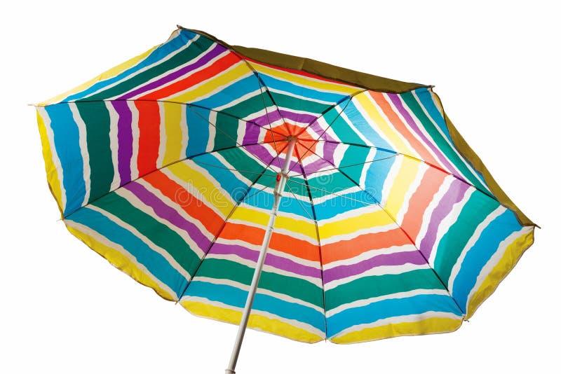 Ριγωτή ομπρέλα παραλιών στοκ εικόνα