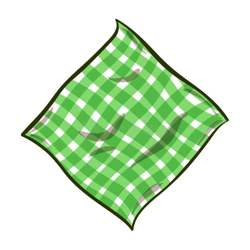 Ριγωτή πετσέτα κινούμενων σχεδίων διανυσματική απεικόνιση