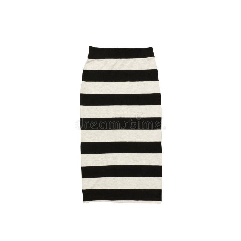 Ριγωτή φούστα, μαύρη τσάντα και άσπρα πάνινα παπούτσια μοντέρνη έννοια στοκ εικόνα με δικαίωμα ελεύθερης χρήσης