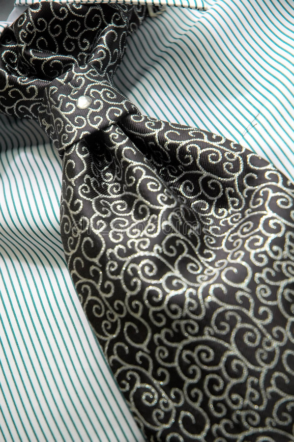 ριγωτός δεσμός πουκάμισων τυπωμένων υλών στοκ εικόνα