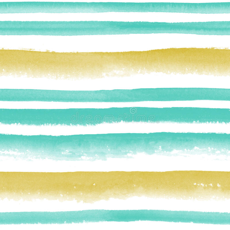 Ριγωτό άνευ ραφής σχέδιο Watercolor στοκ εικόνες με δικαίωμα ελεύθερης χρήσης