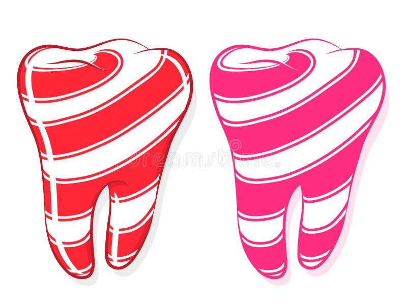 ριγωτό γλυκό δόντι δοντιών &iot απεικόνιση αποθεμάτων