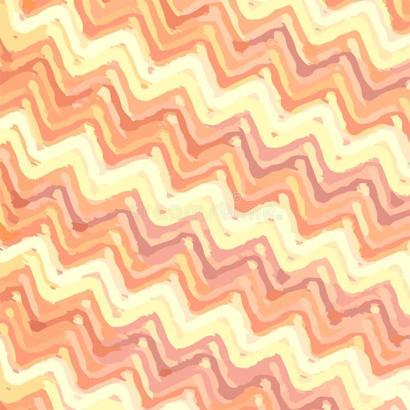 Ριγωτό υπόβαθρο τρεκλίσματος ζωηρόχρωμο στα θερμά χρώματα απεικόνιση αποθεμάτων