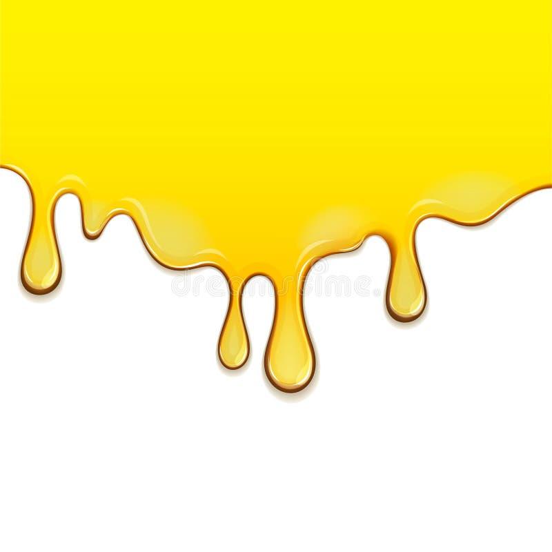 Ροή κάτω από το μέλι διανυσματική απεικόνιση