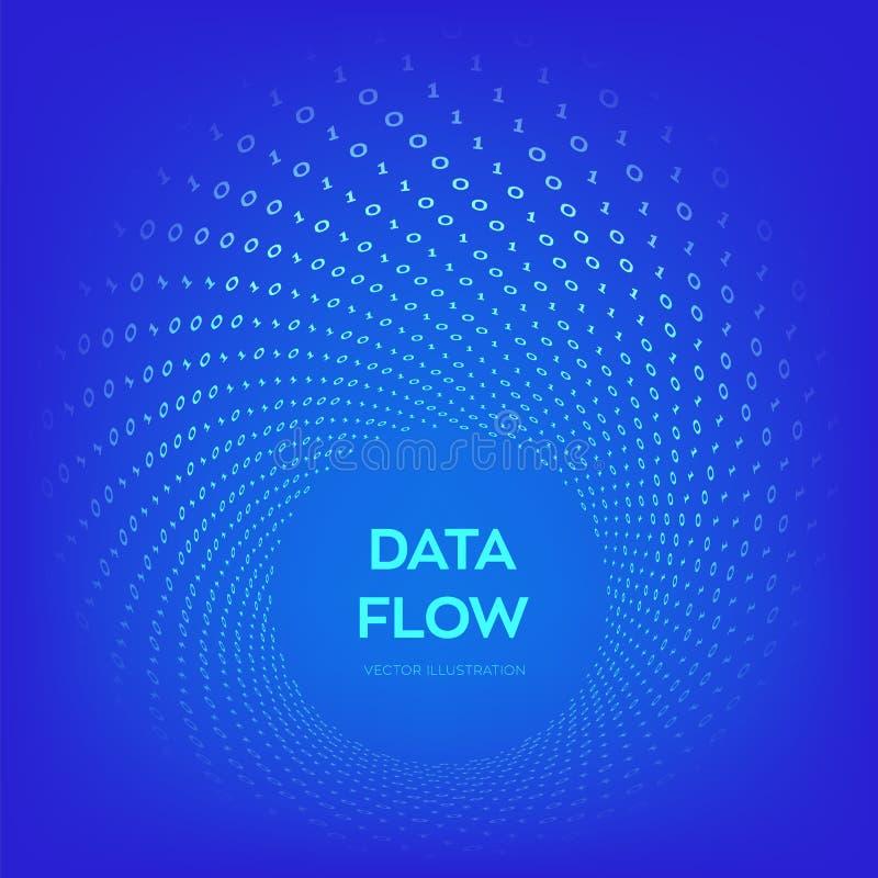Ροή στοιχείων Ψηφιακός κώδικας Δυαδική ροή στοιχείων r Εικονική στρέβλωση σηράγγων Έννοια κωδικοποίησης, προγραμματισμού ή χάραξη ελεύθερη απεικόνιση δικαιώματος