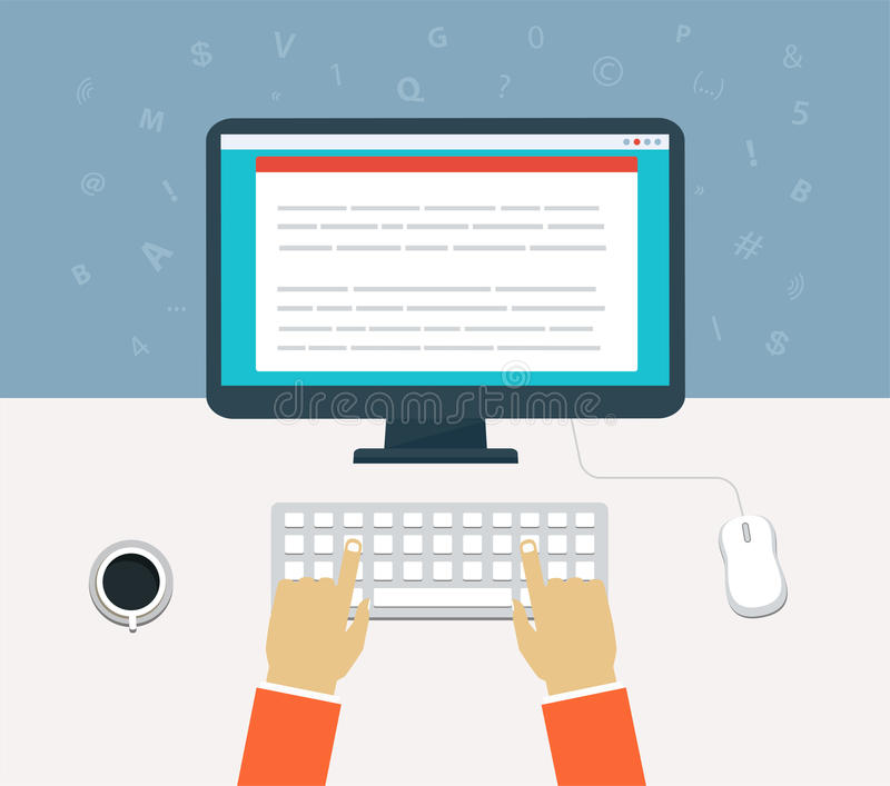 Ροή της δουλειάς για τον υπολογιστή απεικόνιση αποθεμάτων