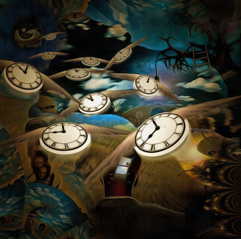 Ροή του χρόνου διανυσματική απεικόνιση