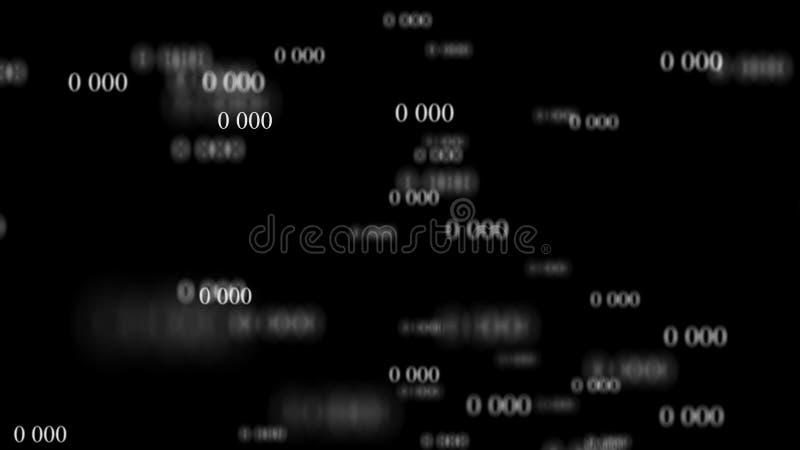 Ροή των μηδενικών Ψηφιακή μήτρα υποβάθρου r Υπόβαθρο δυαδικού κώδικα Προγραμματισμός Υπεύθυνος για την ανάπτυξη Ιστού διανυσματική απεικόνιση