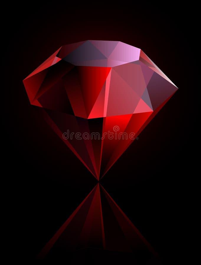 ροδοκόκκινο διάνυσμα απεικόνιση αποθεμάτων
