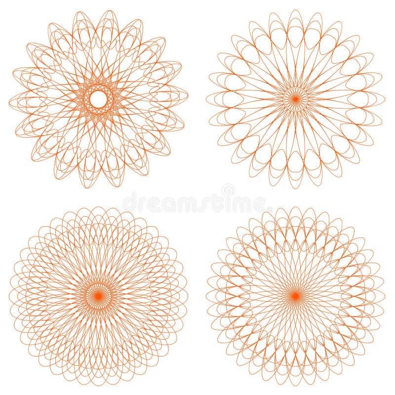 ροζέτες αραβουργήματο&sigm διανυσματική απεικόνιση