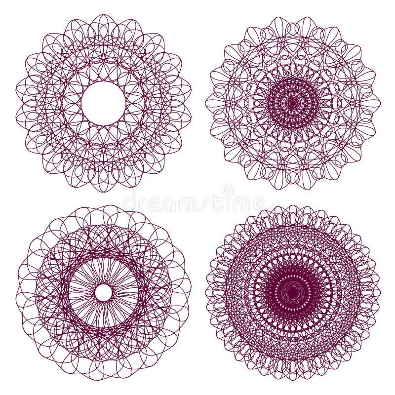 ροζέτες αραβουργήματο&sigm απεικόνιση αποθεμάτων