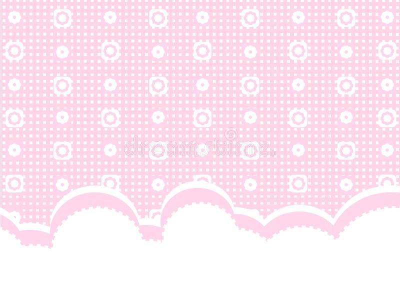 ροζ ανασκόπησης μωρών απεικόνιση αποθεμάτων