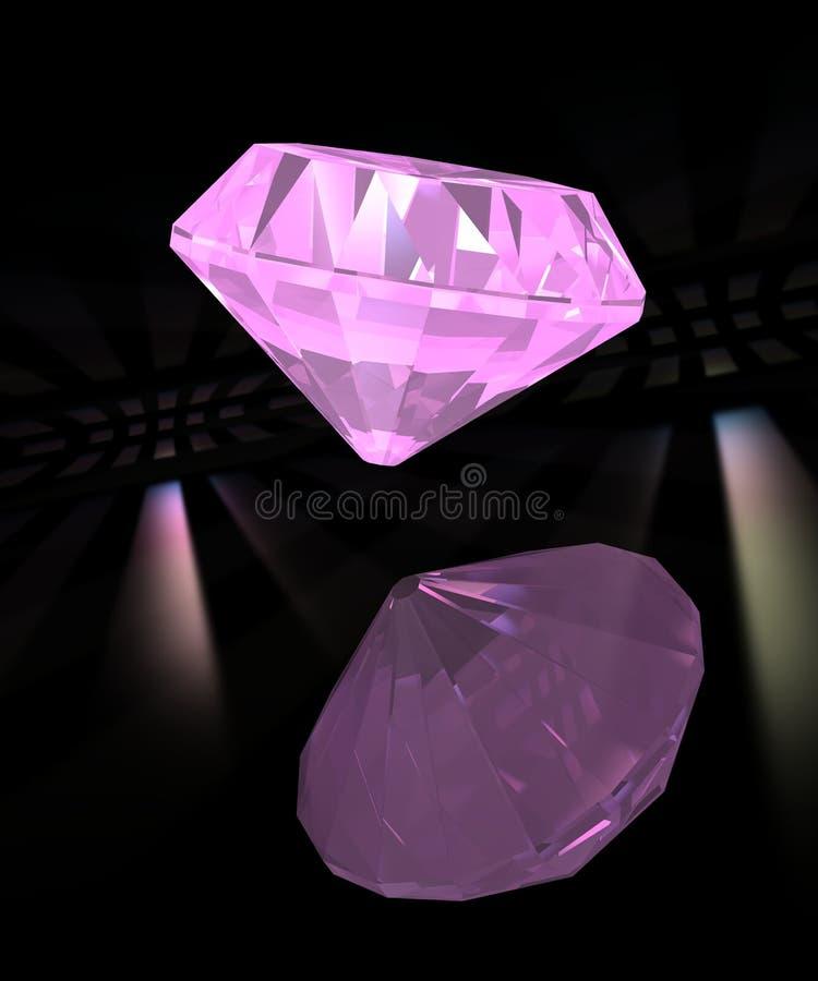 ροζ απεικόνισης διαμαντ&iot ελεύθερη απεικόνιση δικαιώματος