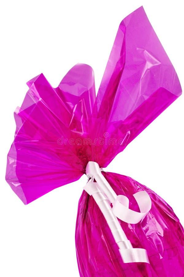 ροζ αυγών Πάσχας γωνιών σοκολάτας στοκ φωτογραφία με δικαίωμα ελεύθερης χρήσης