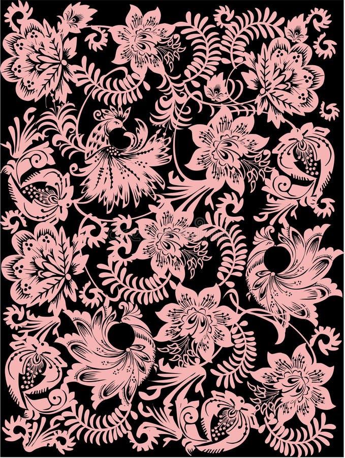 ροζ διακοσμήσεων πουλ&io απεικόνιση αποθεμάτων