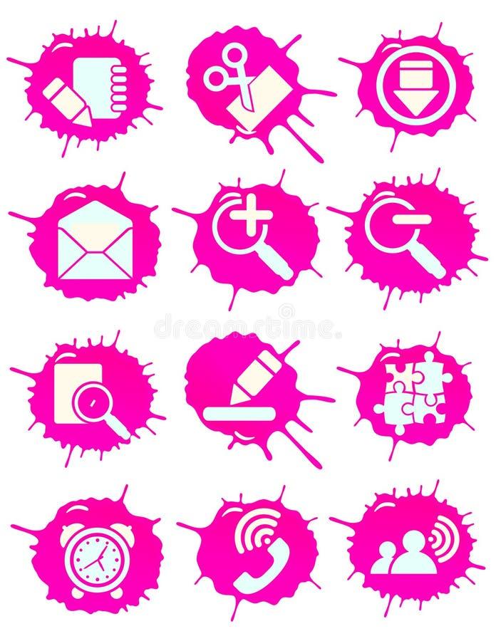 ροζ εικονιδίων διανυσματική απεικόνιση