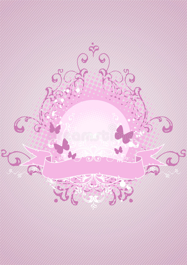 ροζ εμβλημάτων στοιχείων & ελεύθερη απεικόνιση δικαιώματος