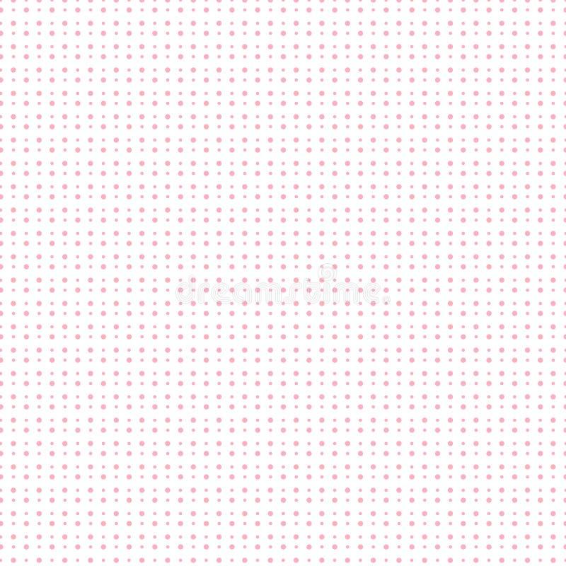 Ροζ ημίτονο με το σχέδιο σημείων στο άσπρο υπόβαθρο για το valentin διανυσματική απεικόνιση
