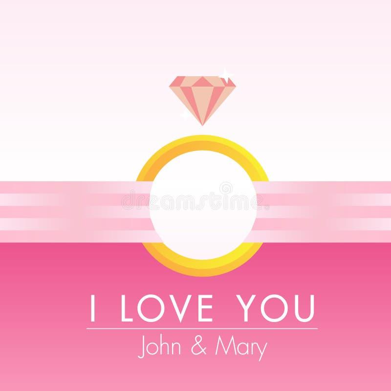 Ροζ διάνυσμα ευχετήριων καρτών καρδιών διανυσματική απεικόνιση