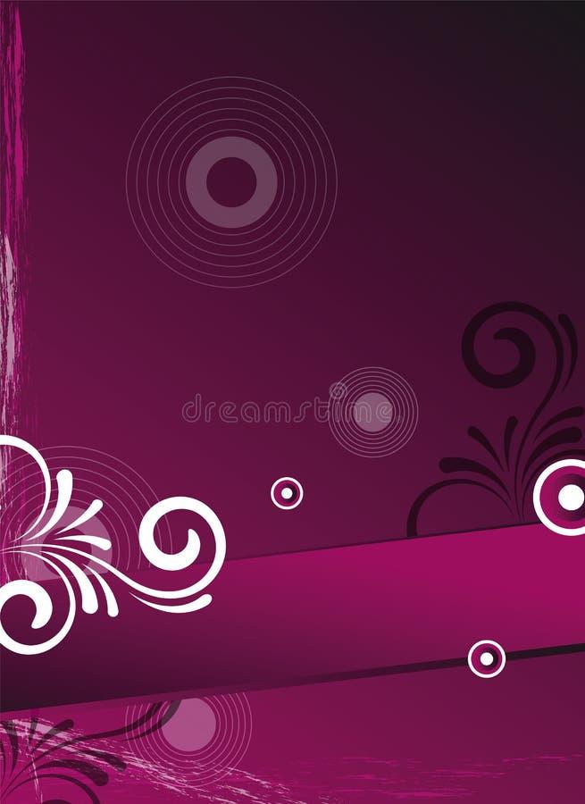 ροζ ιπτάμενων καρτών ανασκό& διανυσματική απεικόνιση