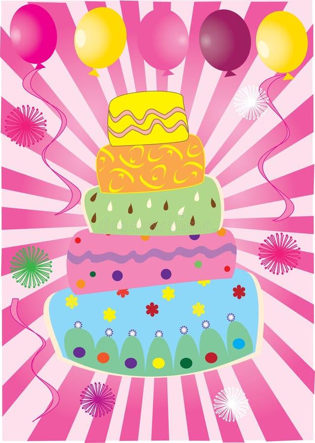 ροζ κέικ διανυσματική απεικόνιση