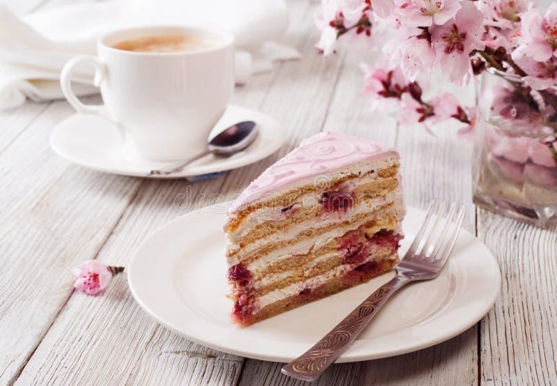 ροζ κέικ στοκ φωτογραφία