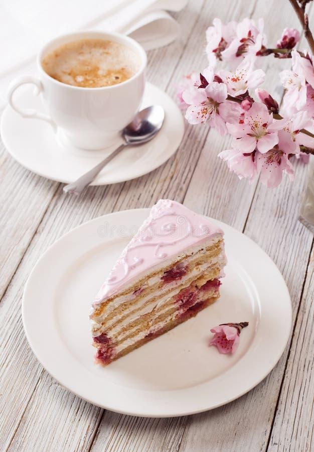 ροζ κέικ στοκ εικόνες