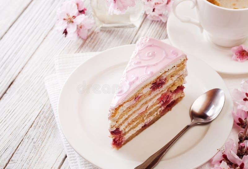 ροζ κέικ στοκ εικόνες με δικαίωμα ελεύθερης χρήσης
