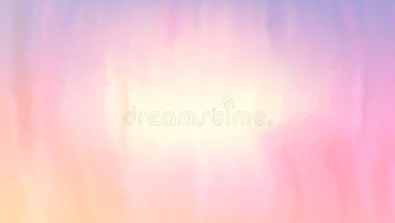 Ροζ και χρώμα ροδάκινων του χρώματος που αναμιγνύονται στην υγρή επιφάνεια Μαλακό αφηρημένο υπόβαθρο στο ύφος χρώματος aqua Resiz απεικόνιση αποθεμάτων