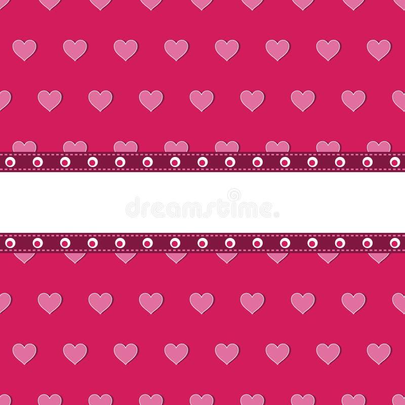 ροζ καρδιών ανασκόπησης απεικόνιση αποθεμάτων